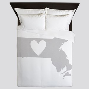 Heart Massachusetts Queen Duvet