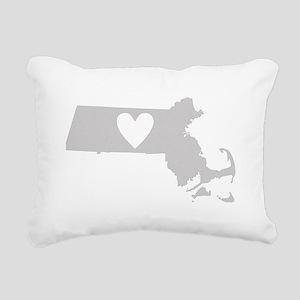Heart Massachusetts Rectangular Canvas Pillow