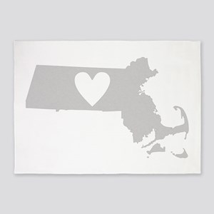 Heart Massachusetts 5'x7'Area Rug