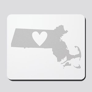 Heart Massachusetts Mousepad
