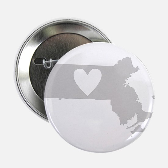 "Heart Massachusetts 2.25"" Button"