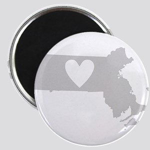 Heart Massachusetts Magnet