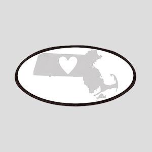 Heart Massachusetts Patches