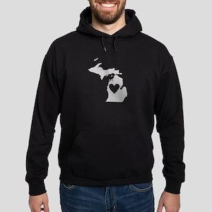 Heart Michigan Hoodie (dark)