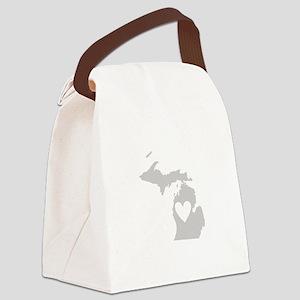 Heart Michigan Canvas Lunch Bag