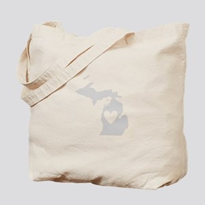 Heart Michigan Tote Bag