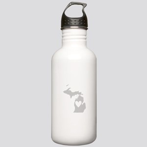 Heart Michigan Stainless Water Bottle 1.0L