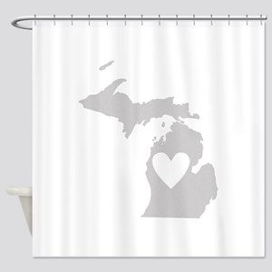 Heart Michigan Shower Curtain