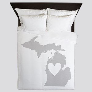 Heart Michigan Queen Duvet