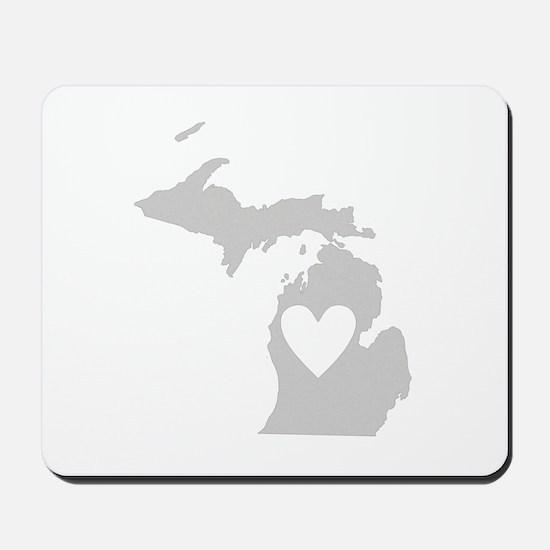 Heart Michigan Mousepad