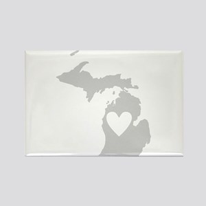 Heart Michigan Rectangle Magnet