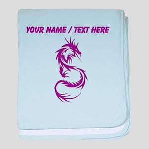 Custom Purple Dragon Tattoo baby blanket