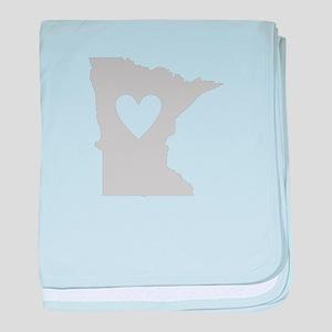 Heart Minnesota baby blanket