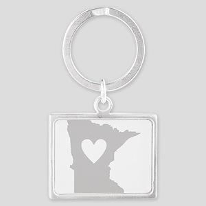 Heart Minnesota Landscape Keychain