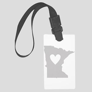Heart Minnesota Large Luggage Tag