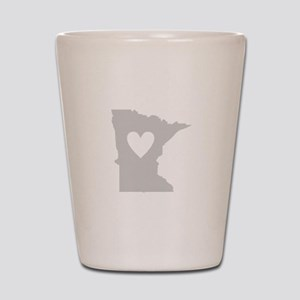 Heart Minnesota Shot Glass