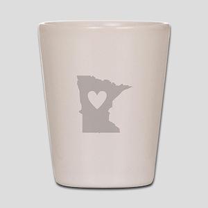 Heart Minnesota Shot Glass