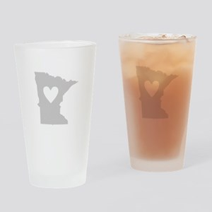 Heart Minnesota Drinking Glass