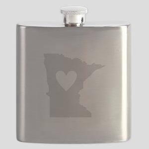 Heart Minnesota Flask