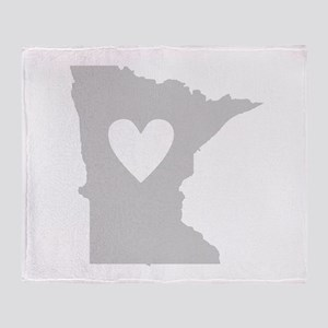 Heart Minnesota Throw Blanket