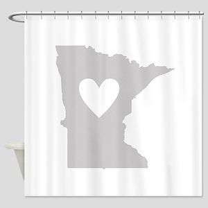 Heart Minnesota Shower Curtain