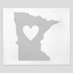 Heart Minnesota King Duvet