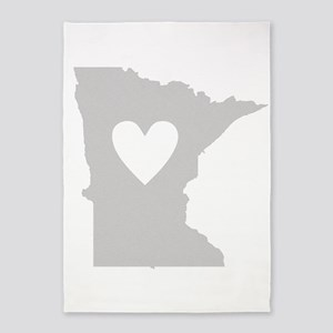 Heart Minnesota 5'x7'Area Rug