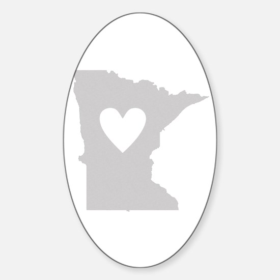 Heart Minnesota Sticker (Oval)