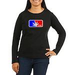 weed sports logo Women's Long Sleeve Dark T-Shirt