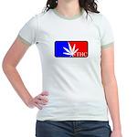 weed sports logo Jr. Ringer T-Shirt