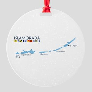 Islamorada - Map Design. Round Ornament