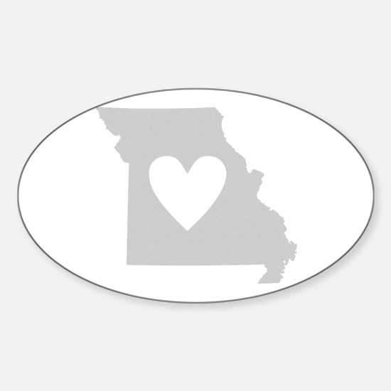 Heart Missouri Sticker (Oval)