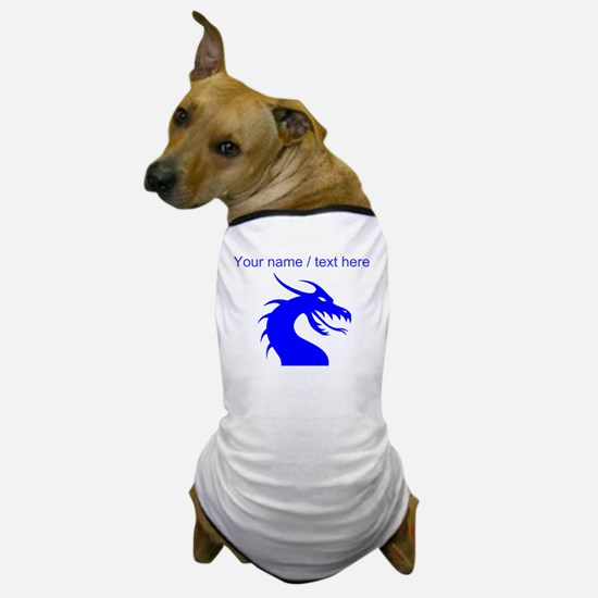 Custom Blue Scary Dragon Dog T-Shirt