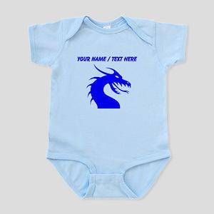 Custom Blue Scary Dragon Body Suit