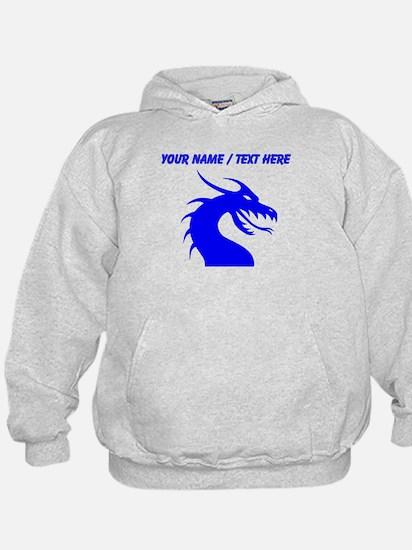 Custom Blue Scary Dragon Hoodie