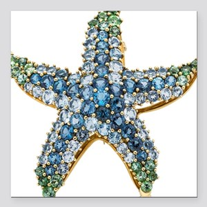 Starfish Vintage Rhinestone Costume Jewelry Square