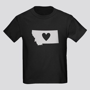Heart Montana Kids Dark T-Shirt