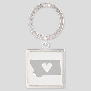 Heart Montana Square Keychain