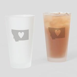 Heart Montana Drinking Glass