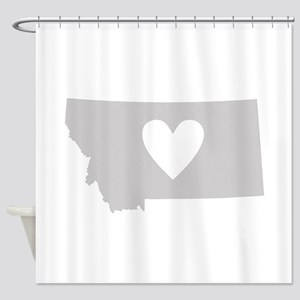 Heart Montana Shower Curtain