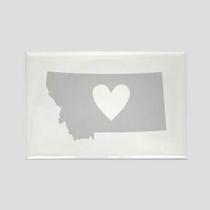 Heart Montana Rectangle Magnet
