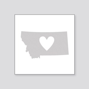 "Heart Montana Square Sticker 3"" x 3"""