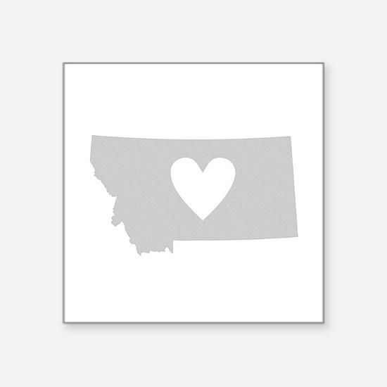 "Heart Montana Square Sticker 3"" x 3"""