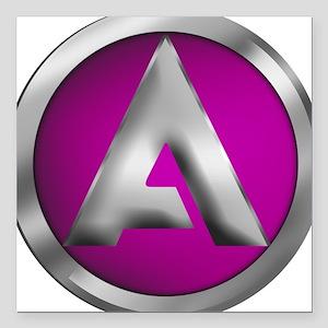 "ALLIANCE Full Color Logo Square Car Magnet 3"" x 3"""