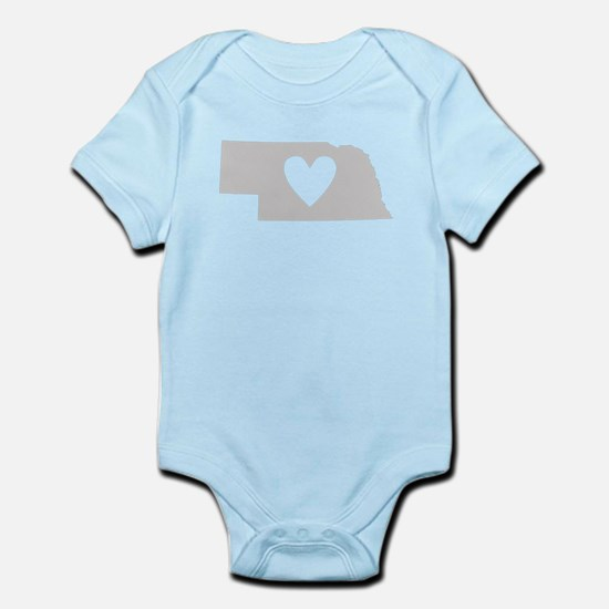 Heart Nebraska Infant Bodysuit