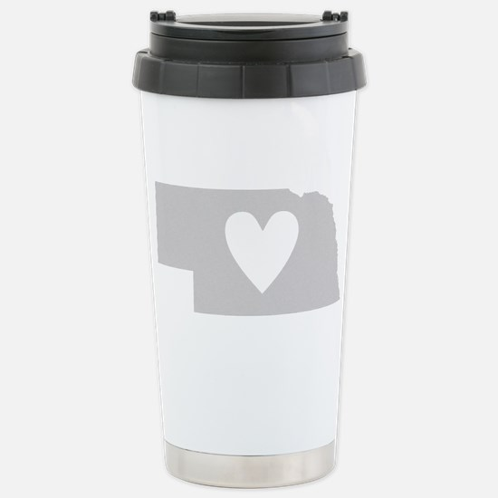 Heart Nebraska Stainless Steel Travel Mug