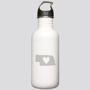 Heart Nebraska Stainless Water Bottle 1.0L