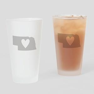 Heart Nebraska Drinking Glass