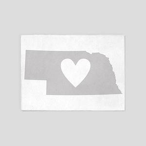 Heart Nebraska 5'x7'Area Rug
