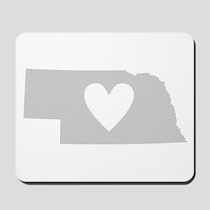 Heart Nebraska Mousepad